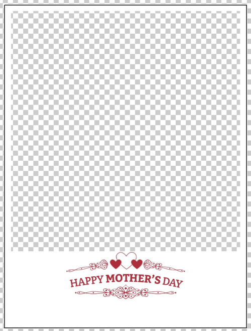 Overlay image of a frame with a graphic 'Happy Mothers Day'