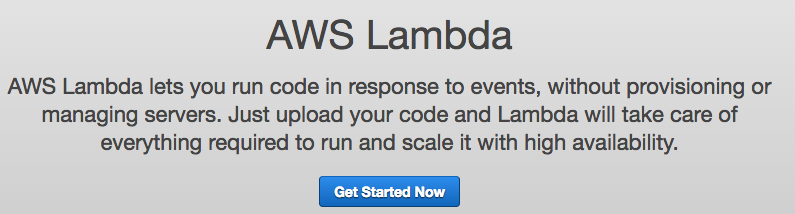 Lambda Get Started Now