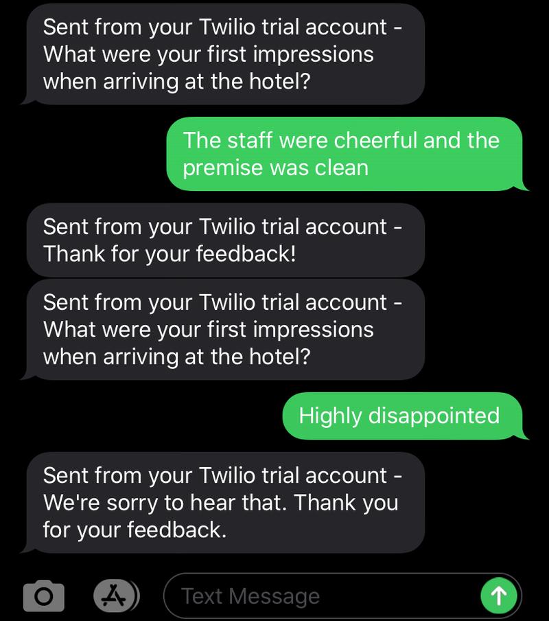 SMS demo