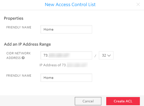 new access control list