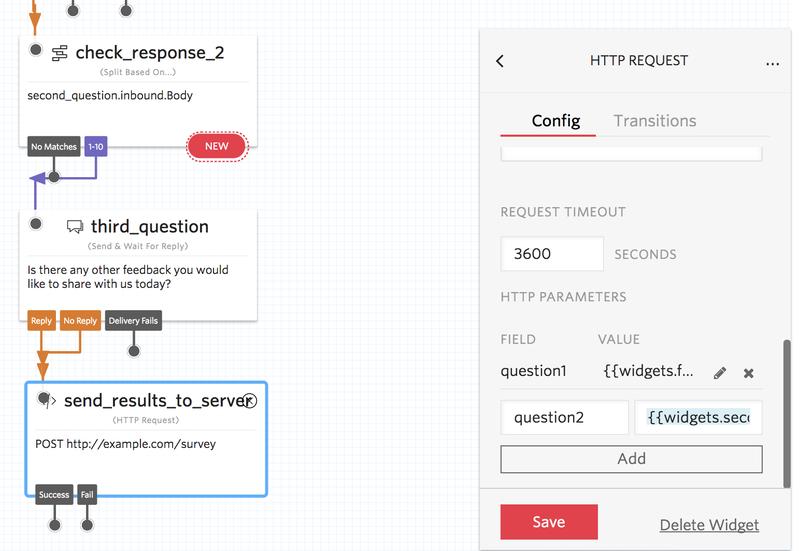 Survey HTTP widget