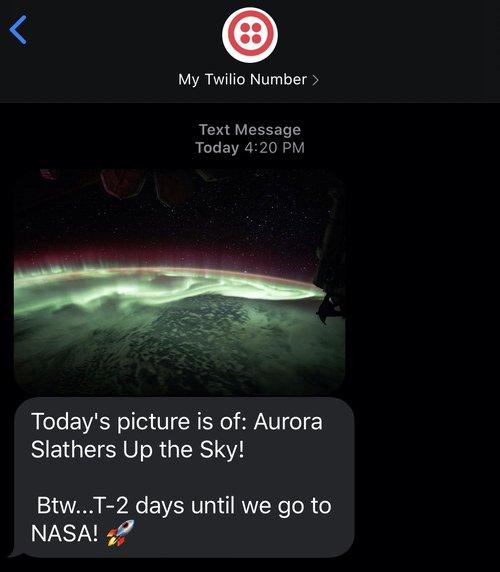 scheduled sms demo