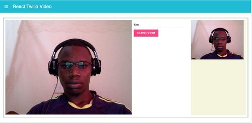 Segunda tela do navegador aberta exibindo agora duas câmeras e o exemplo em execução.