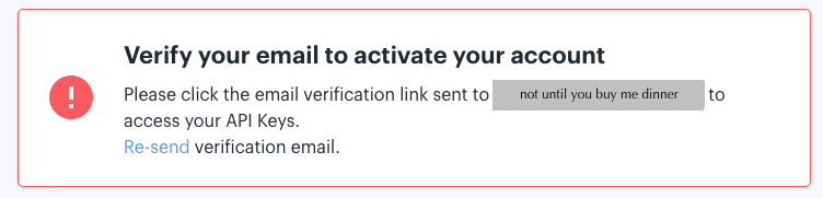 Screenshot of directions to click link on verification email, from IEX site