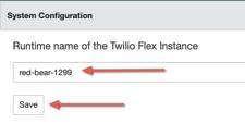 Identificación del servicio en tiempo de ejecución de Twilio