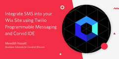 Integrate SMS into your Wix Site using Twilio Programmable Messaging and Corvid IDE