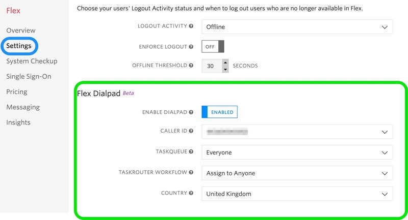 Enable the Flex Dialpad in your account