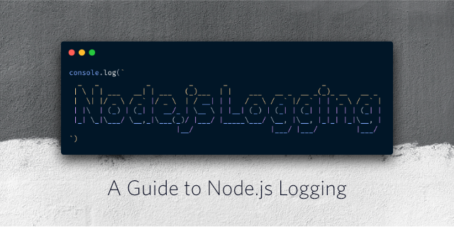 "Decorative header image ""A guide to Node.js logging"""