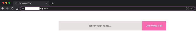 HTML form, now with CSS styles applied. The input field is shaded light gray, and the button is colored pink.