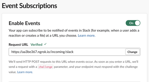 slack event endpoint