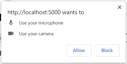 Share your camera and microphone notice