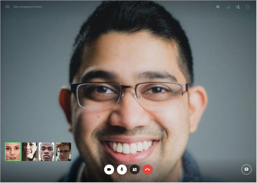 Example of Twilio video conference call