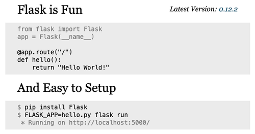 new flask website