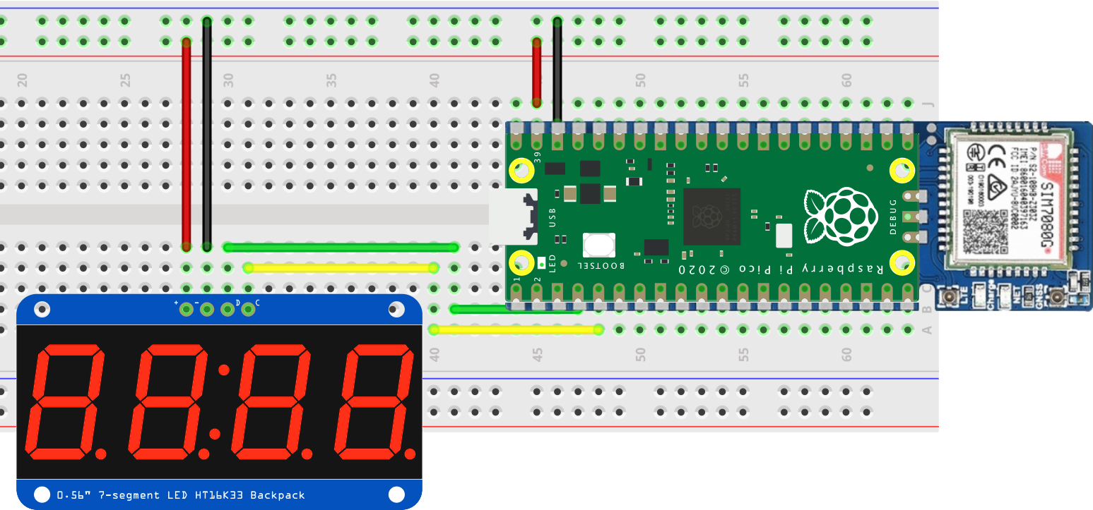 The display circuit layout