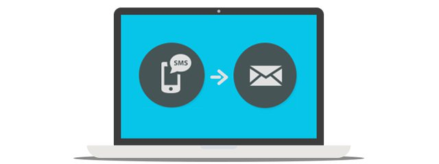 Send emails through SMS