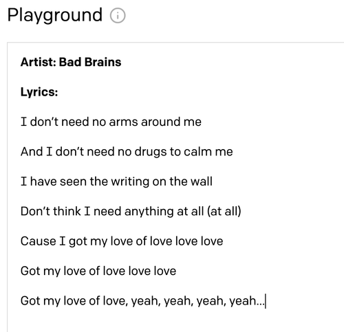 Computer-generated Bad Brains song