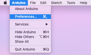 Arduino IDE preferences for the Seeed Studio Wio LTE  Twilio Machine-to-Machine quickstart