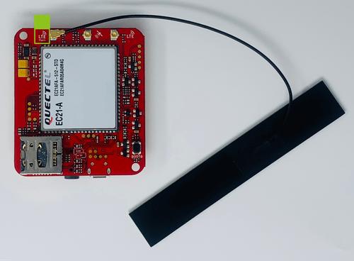 Attaching a LTE Antenna to Seeed Studio Wio LTE for Twilio Machine-to-Machine quickstart using the Arduino IDE