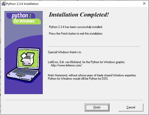 Python 2.3.4 Windows installer