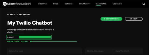 Spotify client id