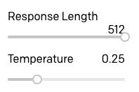 Comprimento e temperatura da resposta do BOT ELI5