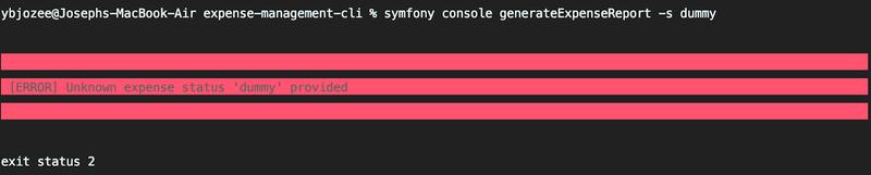 Default command output