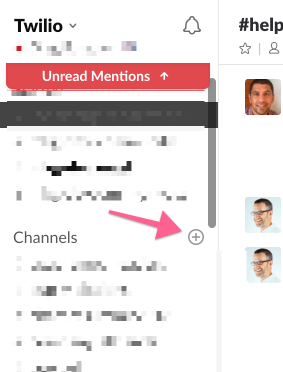 create channel in slack