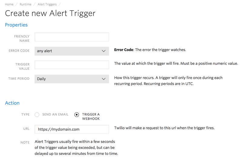 Create a new alert trigger