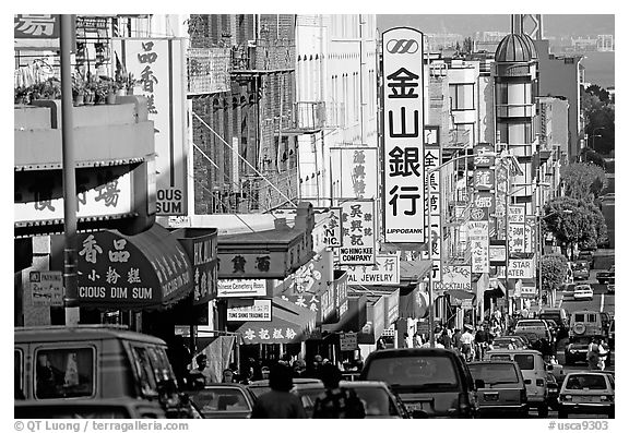 black-and-white SF Chinatown image