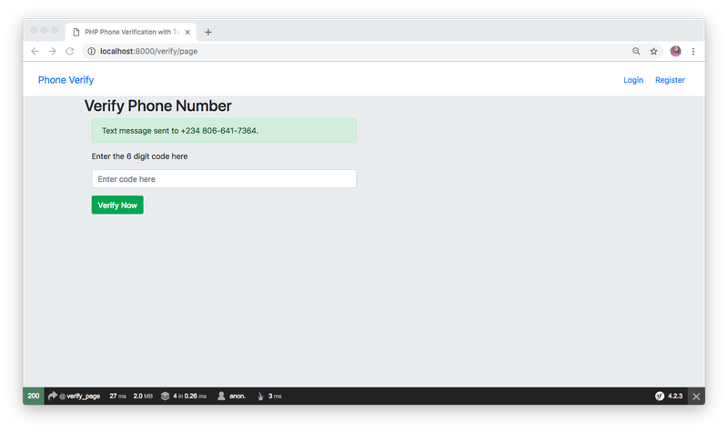 Verify Phone Numbers in Symfony 4 PHP with Authy and Twilio SMS - Twilio