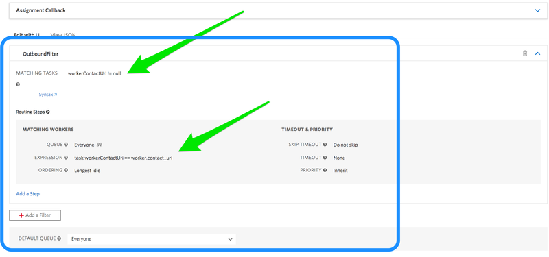 TR Workflow Filter for Outbound Calls