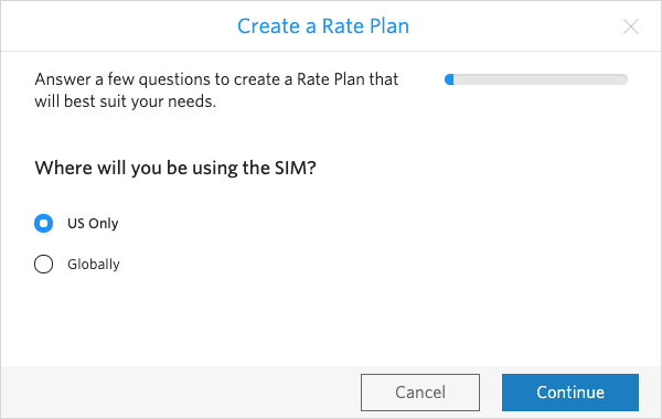 Indicate whether the SIM will be used only in the US or around the world