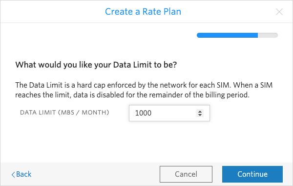 Set your monthly SIM data cap