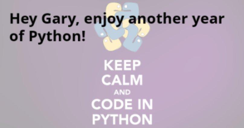 Python birthday reminders