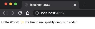 screenshot of the localhost:4567 spark app