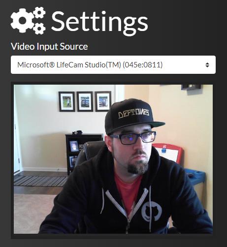 Settings component screenshot