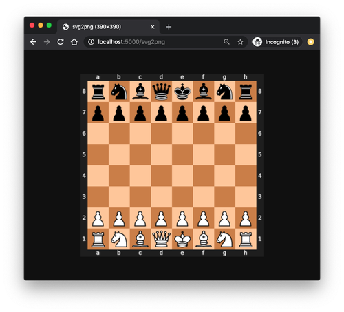 localhost view of the svg2png webhook showing the chess board diagram