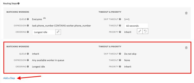 Adding default step of Flex TaskRouter setup.