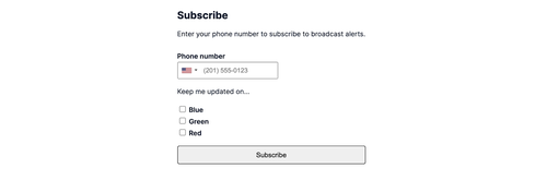 subscribe screen showing a 3rd option for red