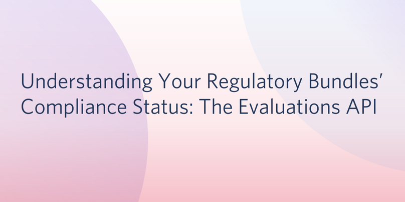 Regulatory Bundle Compliance API