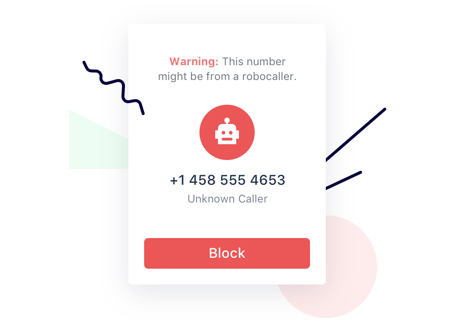 robocaller warning
