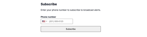 subscribe page with options removed