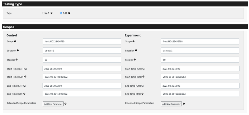screenshot of the referee testing type and scopes page