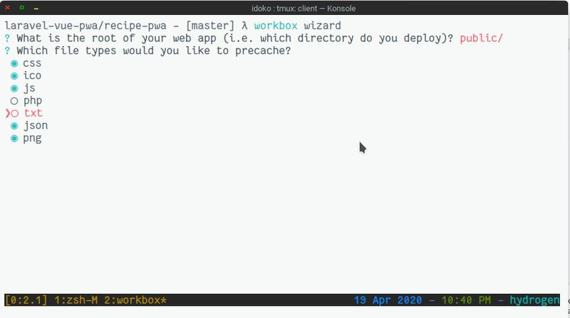 Configuring Workbox with the Workbox wizard
