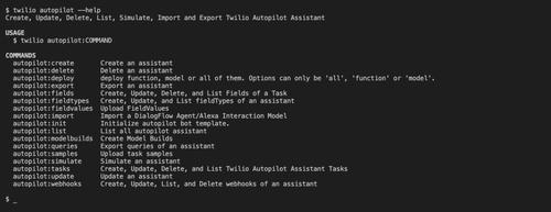 Autopilot CLI commands