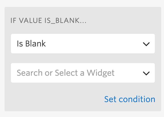 Is Blank option