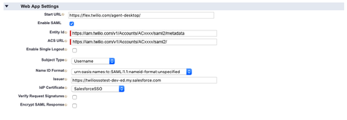 Salesforce SSO Flex (IAM v1)