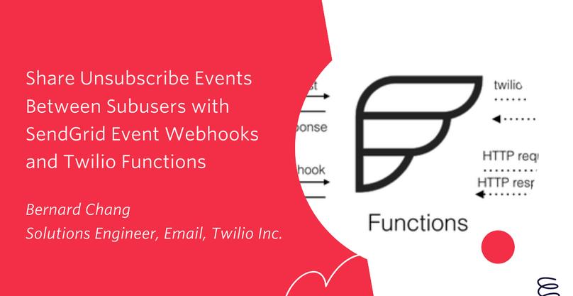 SendGrid Event Webhooks and Twilio Functions