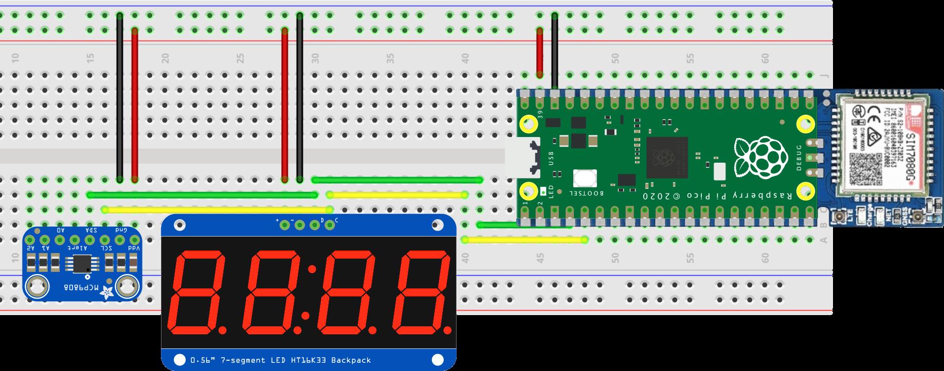 The Waveshare Pico sensor circuit layout