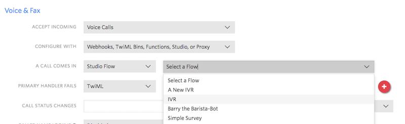 Set IVR Flow
